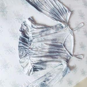 Cold shoulder peasant top
